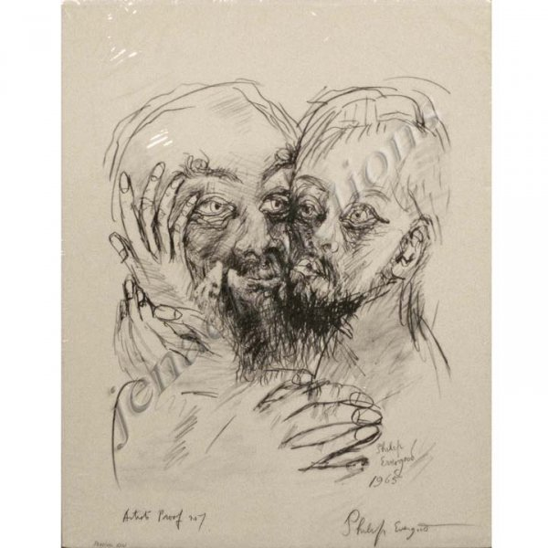 7: PHILIP EVERGOOD LITHOGRAPH THE PRODIGAL SON