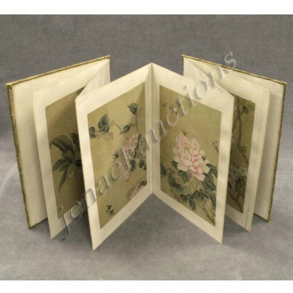16: ALBUM (8) CHINESE WATERCOLORS, SIGNED CHENG XIONG