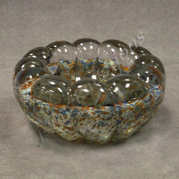 2: ART GLASS END-OF-DAY PAPERWEIGHT BOWL