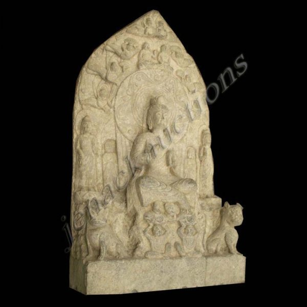 19: CHINESE CARVED STONE STELE