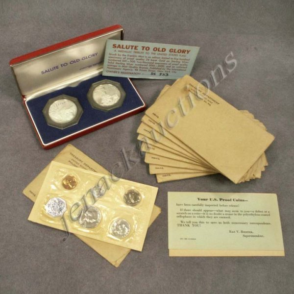 5: LOT INCLUDING (10) 1960 UNITED STATES PROOF SETS