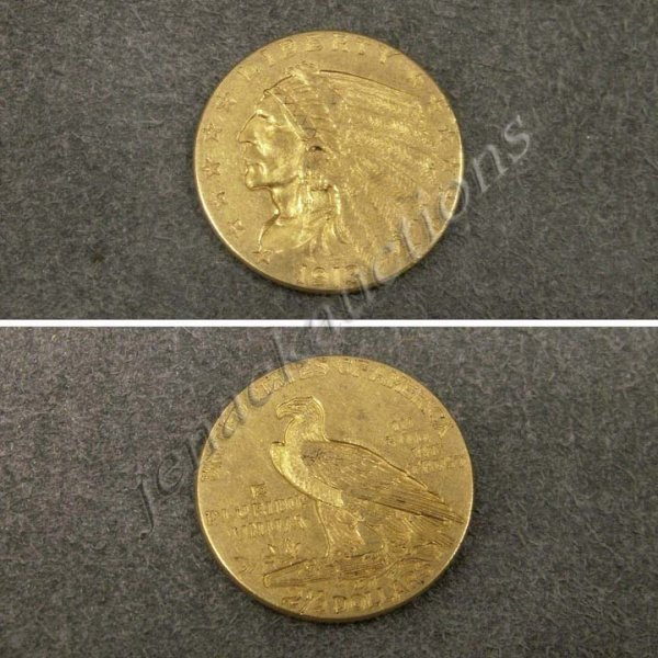 22: 1913 INDIAN HEAD $2.50 GOLD COIN