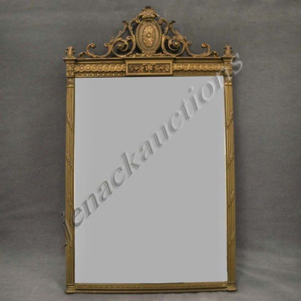 18: ADAMS STYLE CARVED AND GILT FRAMED MIRROR