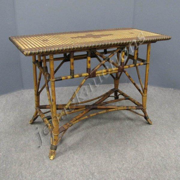 3: VINTAGE RATTAN CONSOLE TABLE