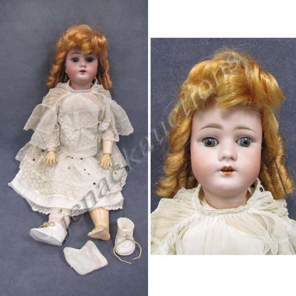 """9:  LIMBACH """"WALLY 5"""" BISQUE SOCKET HEAD DOLL"""