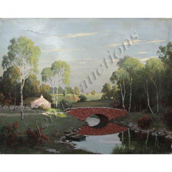 16: AUGUST ALBO (RUSSIAN/AMERICAN 1893-1963), OIL