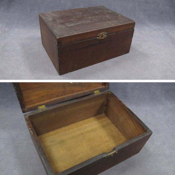 13: MAHOGANY DOVETAILED DOCUMENT BOX