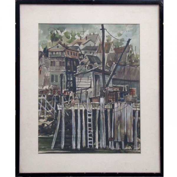 16: CHARLES GROSS (AMERICAN, 20TH CENTURY) WATERCOLOR