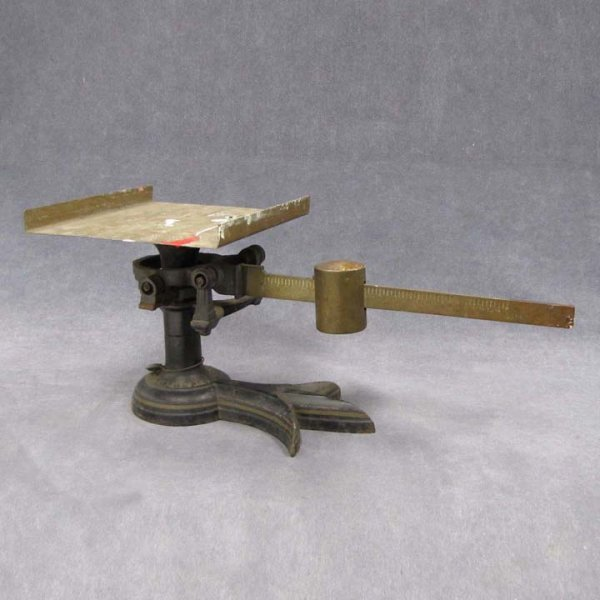 18: US POSTAL SERVICE BRASS AND CAST IRON SCALE
