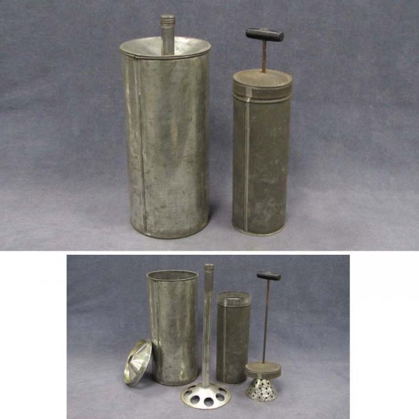 416: LOT (2) TOLEWARE FOOD PROCESSORS, POSSIBLY SHAKER