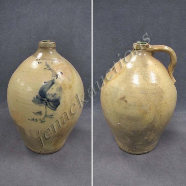 2: OVOID DECORATED STONEWARE 2-GALLONG JUG, CHACE