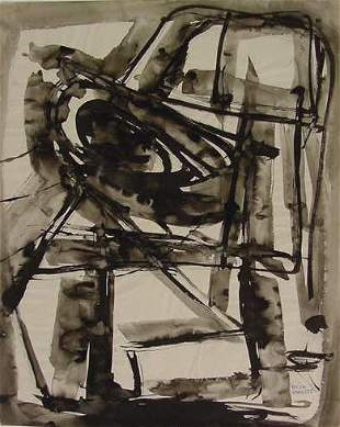 INK/WATERCOLOR, SIGNED ROLPH SCARLETT