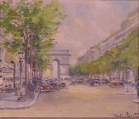 1244: OIL ON CANVAS, SIGNED CHARLES BLONDIN