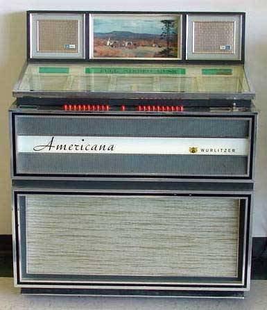 1275: WURLITZER AMERICANA 3110-100 JUKE BOX