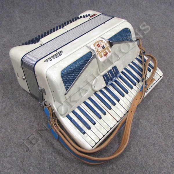 22: VINTAGE NOBLE ATOM MOTHER-OF-PEARL ACCORDION