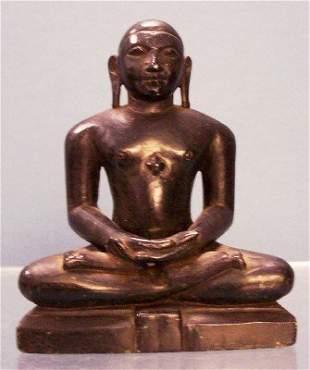 INDIAN CARVED SOAPSTONE BUDDHA