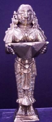 NORTH INDIAN CAST BRASS SHIVA LAMP