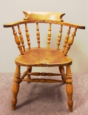1016: ENGLISH ELM WINDSOR PUB CHAIR