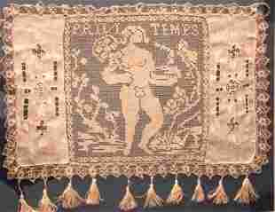FRENCH LACEWORK PANEL. 19TH CENTURY