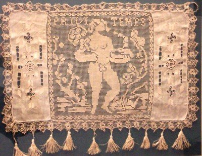 1017: FRENCH LACEWORK PANEL. 19TH CENTURY