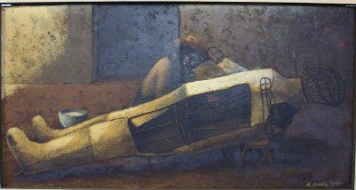 1155: OIL ON BOARD, RODOLFO MORALES
