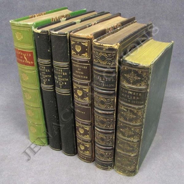 5: LOT (6) LEATHER BOUND VOLUMES