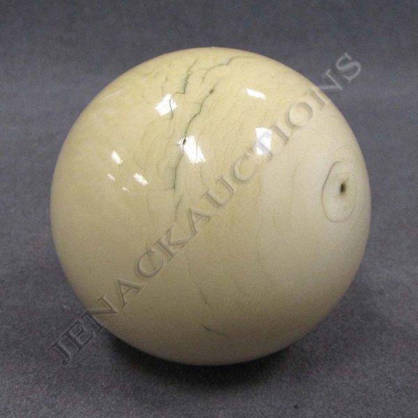 8: VINTAGE IVORY BILLIARD BALL