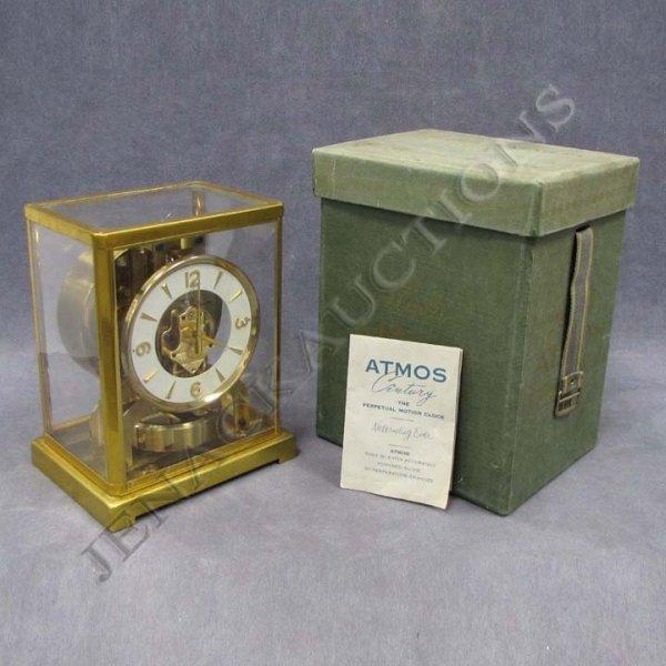 "204: LE COULTRE ATMOS ""CENTURY"" CLOCK WITH ORIGINAL BOX"