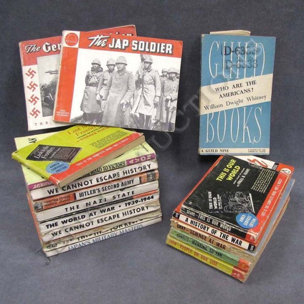 7: LOT (17) ASSORTED WWII ERA PROPAGANDA BOOKS