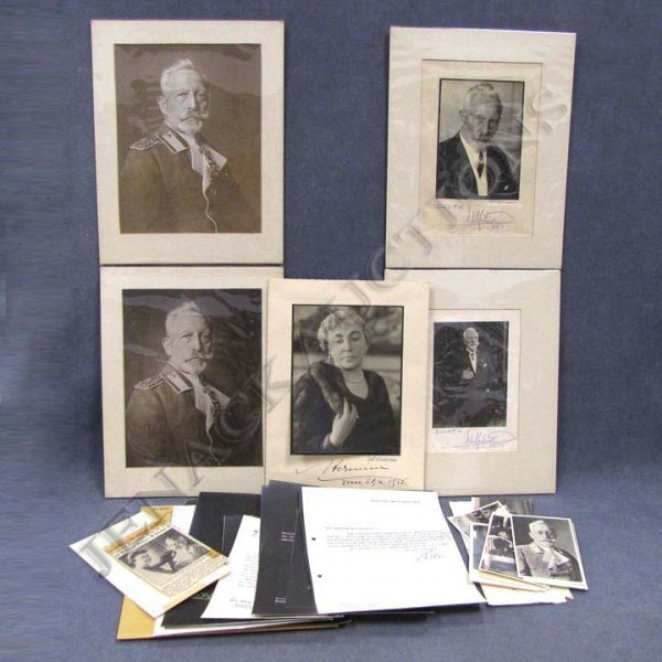 8: LOT ASSORTED KAISER WILHELM II/HERMINE EPHEMERA
