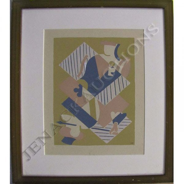 4: FRENCH SCHOOL (20TH CENTURY), SERIGRAPH, ABSTRACT