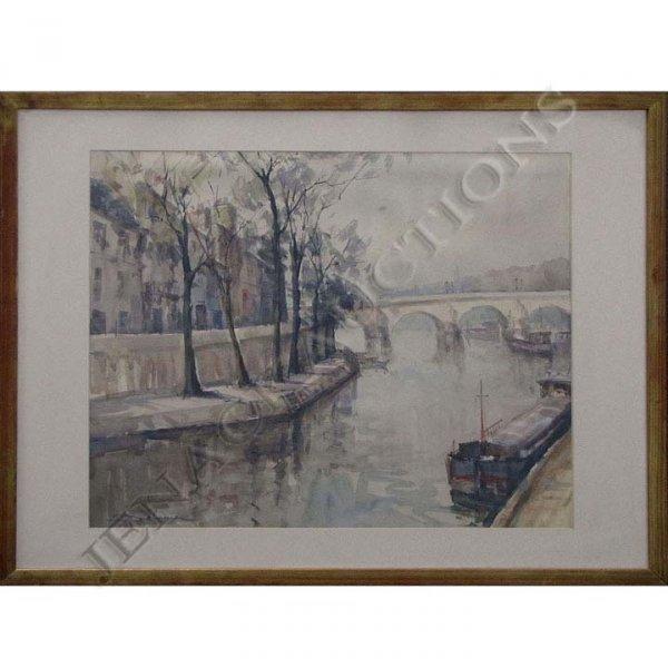 20: LUCIEN DELARUE (FRENCH 1925-), WATERCOLOR