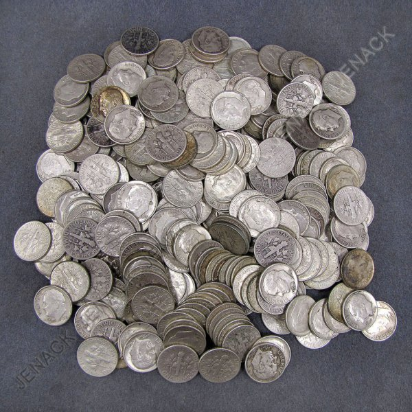 14: LOT (APPROXIMATELY 299) ROOSEVELT SILVER DIMES
