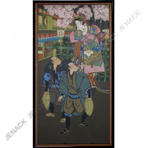 19: JAPANESE SCHOOL (20TH CENTURY) WATERCOLOR/GOUACHE