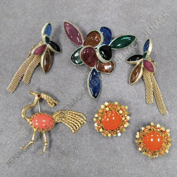 2: LOT MIRIAM HASKELL & HATTIE CARNEGIE JEWELRY