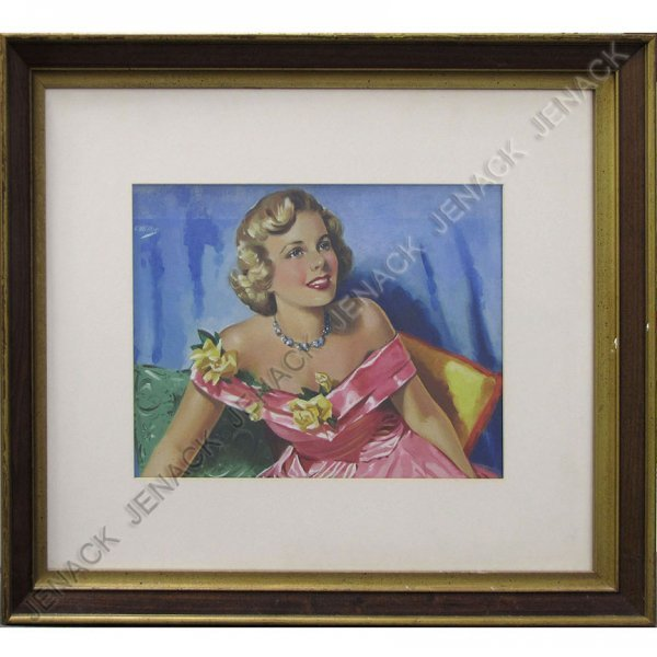 12: ELSIE MILLER (AMERICAN 1916-), OIL ON ARTIST BOARD