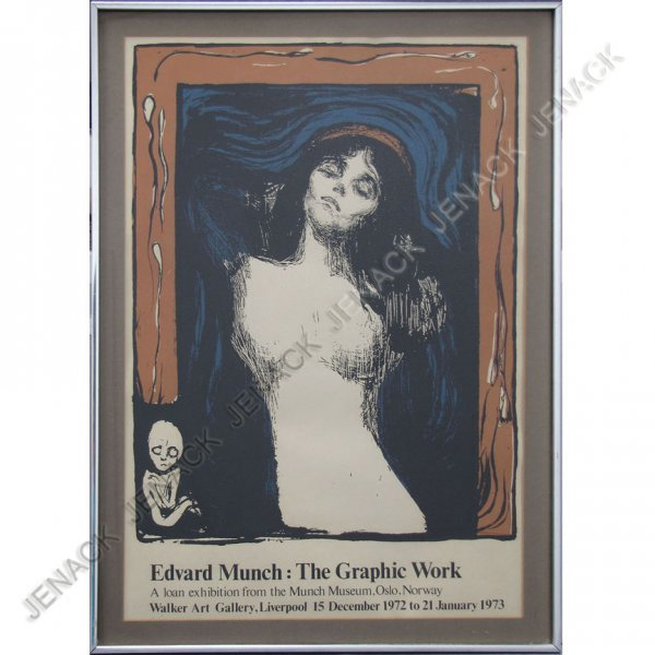 15: AFTER EDUARD MUNCH (NORWAY 1863-1944), LITHO