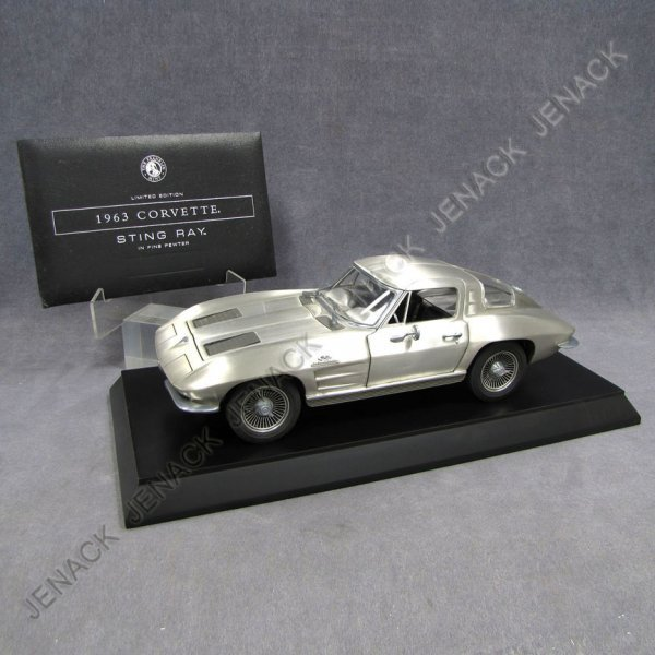 19: LIMITED EDITION ARTICULATED PEWTER 1963 CORVETTE