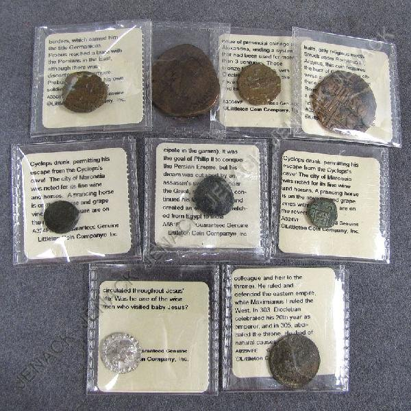 8: LOT (9) ASSORTED ANCIENT COINS