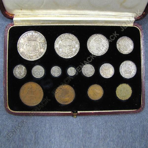 12: 1937 GREAT BRITAIN GEORGE VI COIN SET
