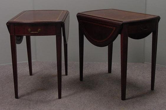 359: PAIR REGENCY STYLE MAHOGANY END TABLES