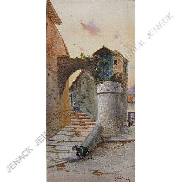 4: FEDERICO SCHIANCHI (ITALIAN 1859-1919), WATERCOLOR