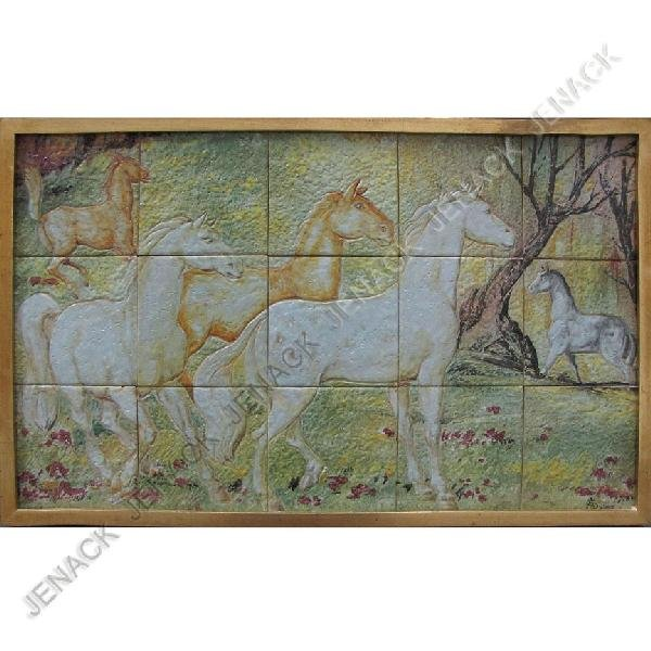20: A.G. DURAN (AMERICAN 20TH CENTURY), TILE PANEL