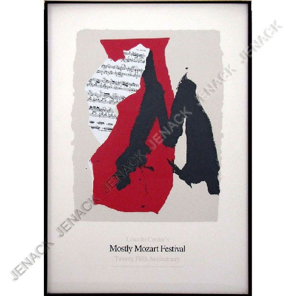 224: ROBERT MOTHERWELL (AMERICAN 1915-1991) LITHOGRAPH