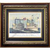 324: CURRIER & IVES, OFFSET LITHOGRAPH, DREW
