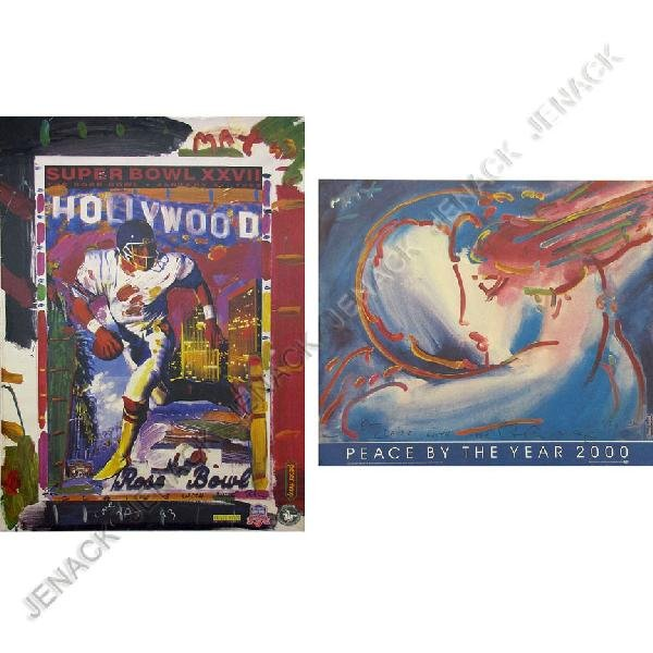 11: PETER MAX (AMERICAN 1937-), LOT (2) OFFSET POSTERS