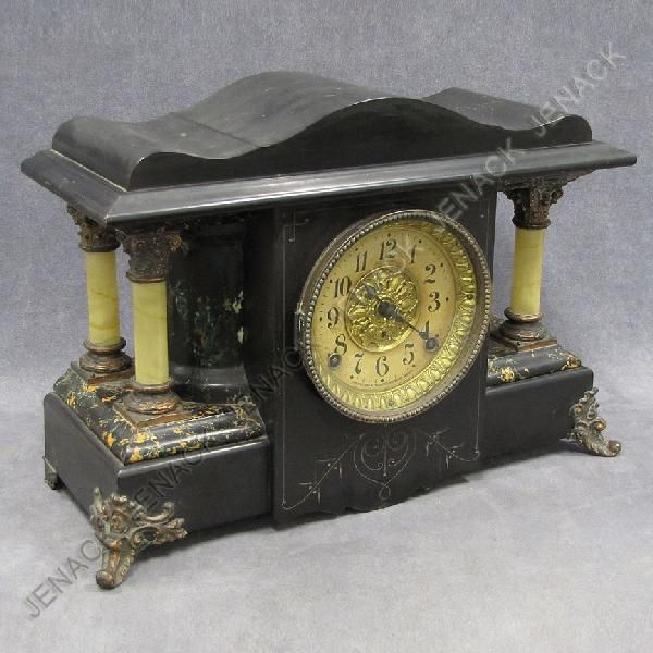 34: VINTAGE SETH THOMAS ADAMANTINE MANTLE CLOCK