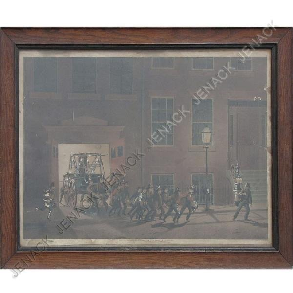 3: N. CURRIER HAND COLORED LITHOGRAPH,
