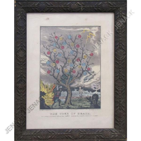 4: CURRIER & IVES HAND COLORED LITHOGRAPH