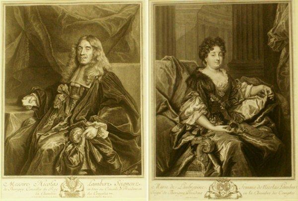 22: PIERRE DREVET (FRENCH 1687-1739) COPPER ENGRAVINGS